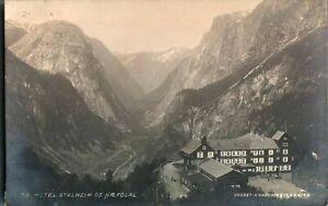 Antique-RPPC-photograph-postcard-Hotel-Stalheim-OG-Naerodal-Norway