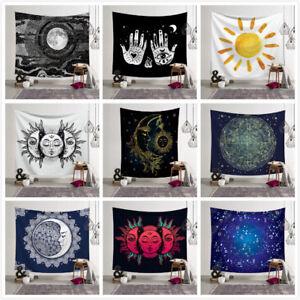 Psicodélico Luna y del Sol Colgante De Pared Toalla de playa Arte Tapiz Dormitorio Decoración Del Hogar