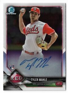 2018 Bowman chrome baseball CRA-TM Tyler Mahle Chrome rookie autograph