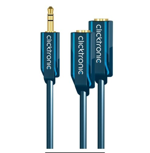 Clicktronic MP3 sound duo Adapter for simultaneous connection of two headphones