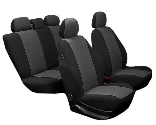 sitzbezüge universal seat Noir Gris ensemble complet voiture Siège auto housses