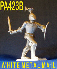 PA423B Militare PIOMBO CASTING 1:34 cavaliere medievale francese VISIERA giù per la battaglia