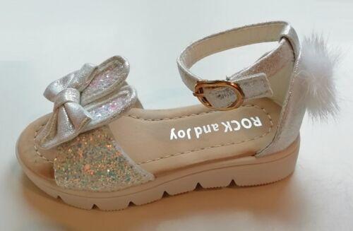 BABY INFANT KIDS GIRLS Glitter Pom Bunny sandals SUMMER CHILDREN SHOES buckle