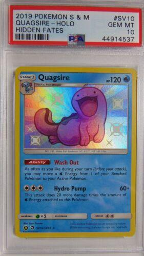 Quagsire SV10//SV94 Hidden Fates PSA 10 Gem Mint Holo Rare Pokemon Card