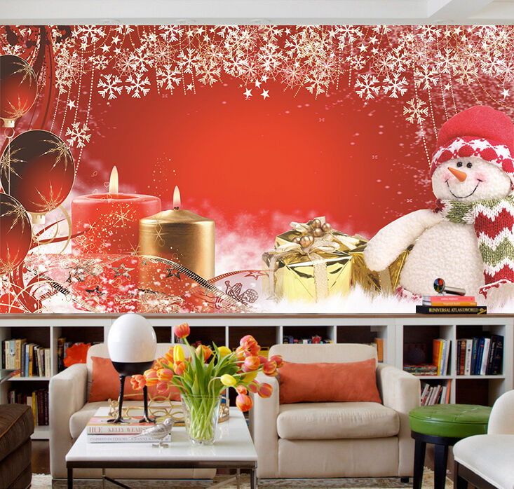 3D Father Christmas Happy 468 Wall Paper Wall Print Decal Wall Deco IndoorWall