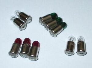 Lampes-de-Rechange-MS4-Rouge-Vert-Transparent-19V-Couleur-au-Choix-10-X