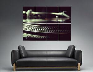 Das Bild Wird Geladen Plattenspieler Dj Studio Deko Wand Kunst Plakat Gross