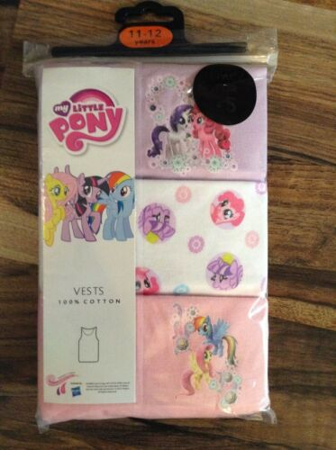 Girl/'s Ex Store 3 pack my little pony vests  just 3.99 each