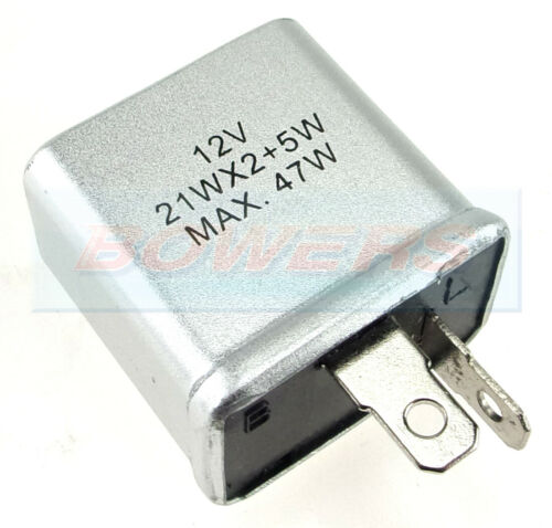 CLASSIC CAR MINI 2 PIN INDICATOR FLASHER UNIT AS LUCAS SFB114 SFB115 21W x 2+5W