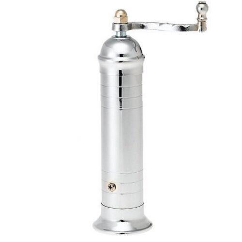 4 x 20.5 cm Greek Mill of 2 Pepper #203 Salt #208 grinder Plated Brass set