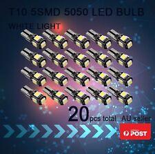 20x T10 194 168 SMD 5050 LED Car Wedge Tail Side Parking Light Globe 12V - WHITE