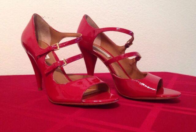 911112504ff07 Pour La Victoire Tatienne Red Patent High HEELS 7.5 Medium