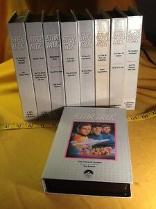 1968/9 STAR TREK CBS Video VHS Collector's Edition Set of 10 Tapes/ 21 Episodes