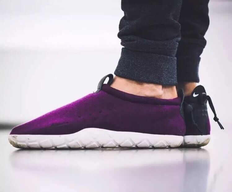 Nike NikeLab Air Moc Tech Fleece Mulberry Sz 7 Mens Purple White SP 834591-510