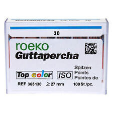 Coltene Roeko 30 Gutta Percha Points 100box Pink Point With Color