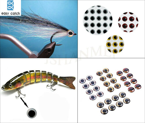 Realistic Artificial Holographic Fake Eyes Fishing Fly Tying Lures Crafts DIY