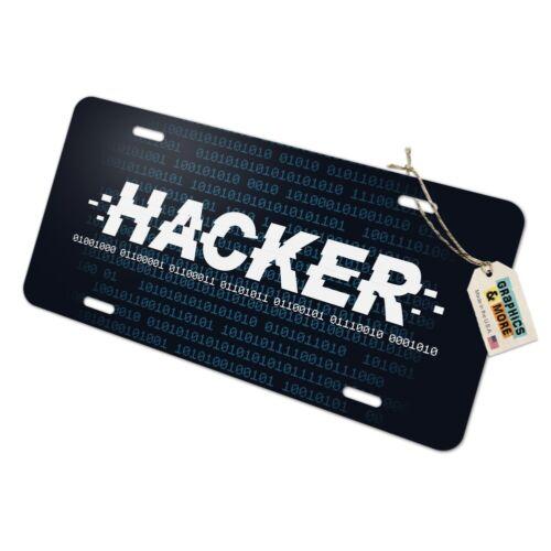 Hacker Binary Code Geek Nerd Novelty Metal Vanity Tag License Plate
