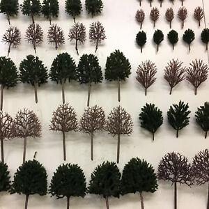 S-P-Tall-Deciduous-Trees-B-Model-Scenery-Railway-Layouts-Wargames-Plastic-wood