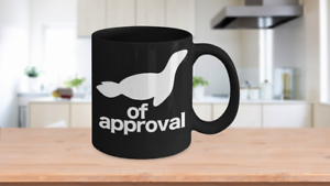 Seal-of-Approval-Mug-Black-Animal-Coffee-Cup-Funny-Gift-for-Teacher-Professor