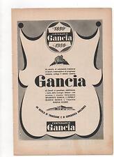 Pubblicità epoca 1950 GANCIA LIQUORE LIQUOR old advert werbung publicitè reklam