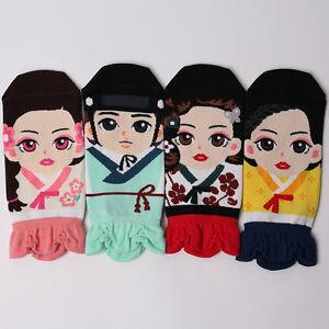 KOREAN-TRADITIONAL-SOCKS-4-pairs-1pack-women-girl-cute-MADE-IN-KOREA-socks