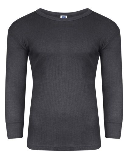 BIG SIZES Men LONG SLEEVES Thermal Vest T Shirt Brushed Inside For Extra Warmth