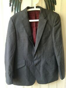 HOPE-amp-GLORY-Wool-Charcoal-amp-Striped-Single-breasted-Suit-Formal-Jacket-40R