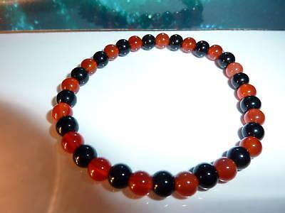 55-bracelet réglable en cornaline-Lithothérapie-Esotérisme-Reiki
