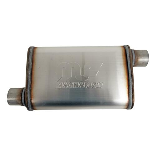 """2.5/"""" OUTLET 4x9/"""" OVAL MUFFLER OFFSET STAINLESS SS MAGNAFLOW 2.5/"""" INCH INLET"""