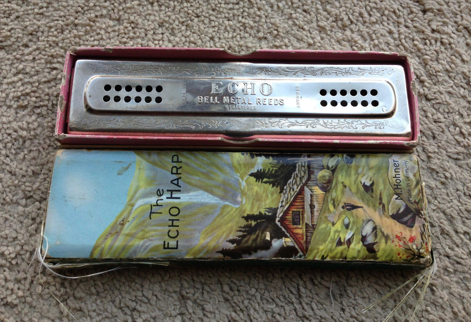 Echo Bell Metal Reeds Harmonica hohner C and G