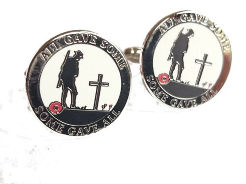 All Gave Some Some Gave All World War Remembrance Poppy Cufflinks