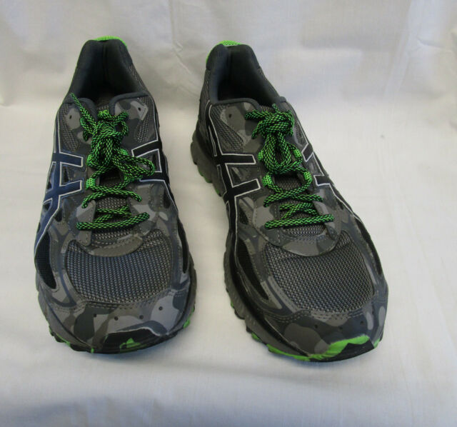 buy online a9337 3e315 Asics Gel-Scram 3 Gray/Green Lace-up Running Athletic Shoes T6K2N Men's  SIZE 14