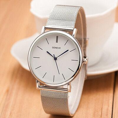 NEW Fashion Geneva Women's Watch Stainless Steel Band Analog Quartz Wrist Watch