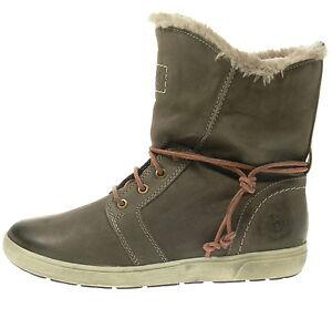 Bugatti-Schuhe-NEU-Boots-Vera-taupe-Echtleder-Fell-Stiefelette-NEU-WinterStiefel
