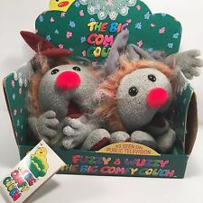 Big Comfy Couch Dust Bunnies Fuzzy and Wuzzy 1997 in Box, Vintage Plush