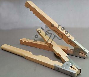 Conjunto de grano de madera Anillo &amp;/Pearl titular abrazaderas de madera joyería de molienda asas de mano  </span>