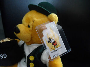 ST-PATRICKS-DAY-POOH-1999-10-034-BEAN-BAG-RARE-RETIRED-USA-EXC-WALT-DISNEY-WORLD