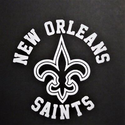 New Orleans Saints vinyl sticker for skateboard luggage laptop tumblers car b