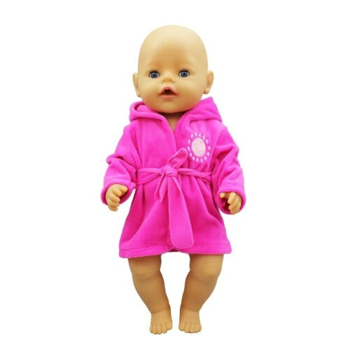 New bathrobe for 17 inch 43 cm doll after shower