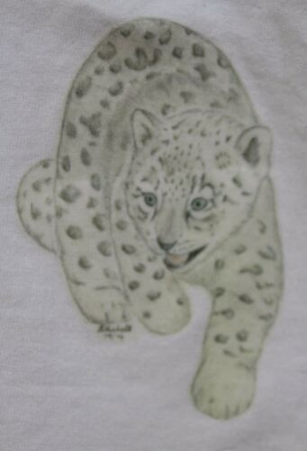 Snow Leopard  T-Shirts /& Sweatshirts 3-6 months to XXL 4 unique drawn designs