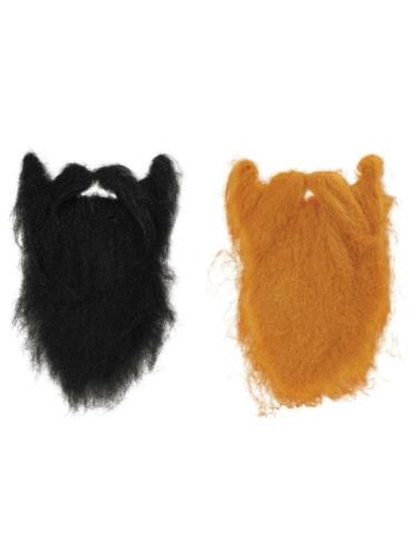 Caractère barbe large 2 couleurs noir gingembre accessoire robe fantaisie