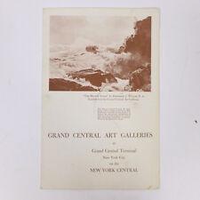 "Vintage Grand Central Art Galleries New York City Central Dining Menu 9.25"""