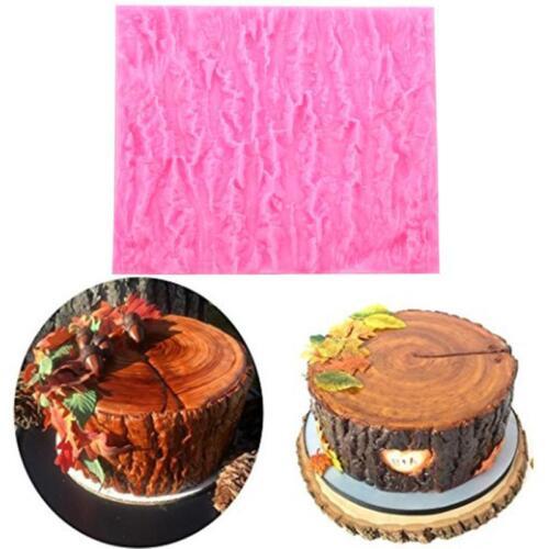 Tree Bark Wood Silicone Impression Texture Mat Fondant Mould Cake Decoration LH