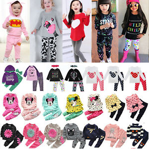 Toddler-Kids-Baby-Girls-Sweatshirt-T-Shirt-Tops-Pants-Tracksuit-2Pcs-Outfits-Set