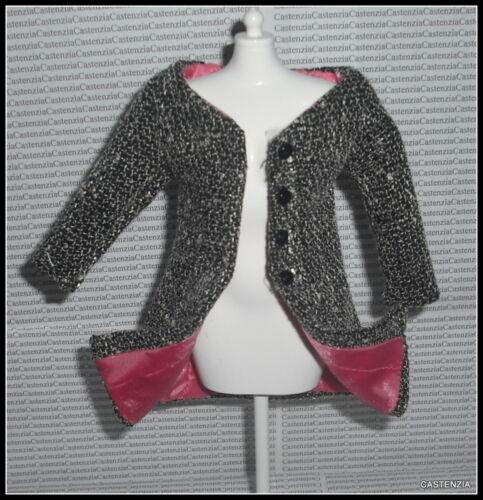 COAT BARBIE DOLL SILKSTONE MODEL LIFE SATIN LINED GRAY TWEED JACKET CLOTHING