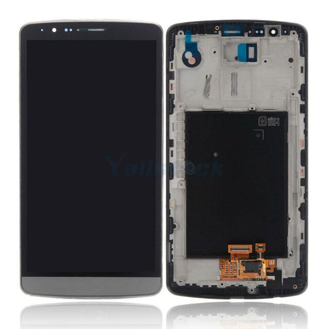 Replacement Touch Display LCD Digitizer Screen with Frame for LG G3 D850 Gray