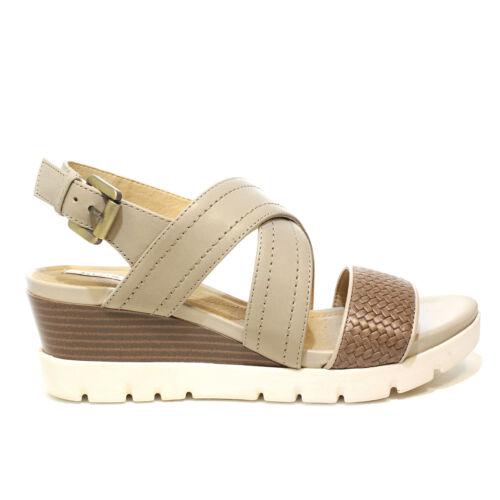 Geox sandalo donna con zeppa alta color sabbia//beige D828AB 06R43 C0135 PE2018
