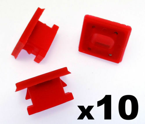 10x BMW Dashboard Trim Strip Grommet. Red Clips for Dash Insert. E46 E83 E65 E66