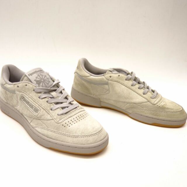 a4bb36166d6 New Reebok Mens Classic C 85 TG Low Top Steel Gray Suede Sneakers Shoes  Size 8