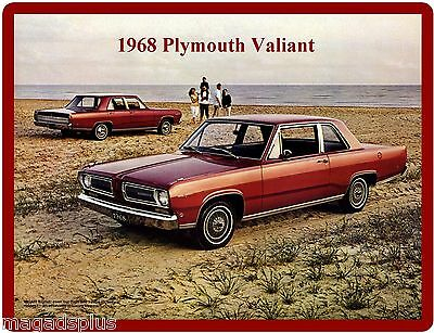 Card Insert 1968 Plymouth Valiant Signet  Refrigerator Tool Box Magnet Gift